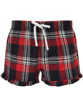 Womens Tartan Frill Shorts
