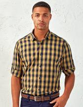 Mens Mulligan Check Cotton Long Sleeve Shirt