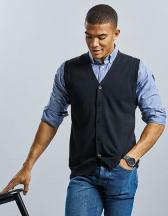 Mens V-Neck Sleeveless Knitted Cardigan