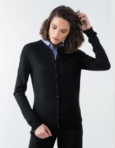 Ladies' Cashmere Touch Acrylic Crew Neck Cardigan